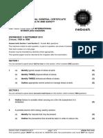 NEBOSH IGC2 Past Exam Paper September 2013