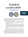 Veteran Legislation 160901