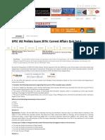 UPSC IAS Current Affairs MCQs for IAS Prelims Exam 2016-05-27
