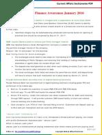 Banking & Finance Awareness 2016(Jan-July)