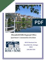 apartment community brochure