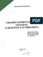 Cidades Estreitamente Vigiadas - o Detetive e o Urbanista