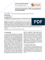 Synthesis and Electrical Properties of TiO2 Nanoparticles