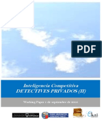 Inteligencia Competitiva. DETECTIVES PRIVADOS (II)