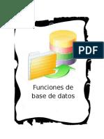 1. Funciones de Base de Datos