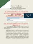 La Inconstitucionalidad Del Efecto Suspensivo Del Recurso de Apelación y La Naturaleza Juridica de Las Excepciones