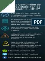 Les Comunitats de Propietaris han de complir la LOPD?