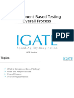 Component Based Testing - Overall Process