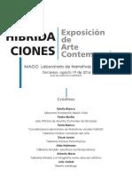 Catalogo Exposicion Hibridaciones IMAGO Lab