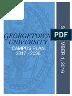 Georgetown University's Campus Plan 2017 - 2036