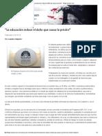 """""""La Educación Reduce El Daño Que Causa La Prisión"""" - Blogs Lanacion"""