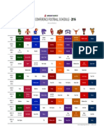 Big 12 Conference Football Schedule - 2016