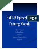 Epinephrine Training Module