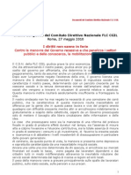 Direttivo FLC Cgil Del 27 Maggio 2010 - Odg Manovra Economica[1]
