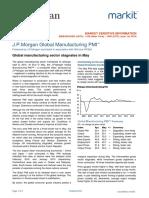 JPMorgan Global Manufacturing PMI May 2016
