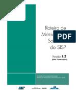 Roteiro de Metricas de Software Do SISP - V2.2
