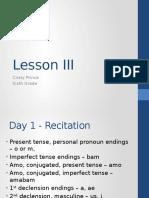 lesson iii