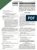 Decreto Supremo 075-Pcm