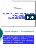 Macro I Expectativas y Pol Econom