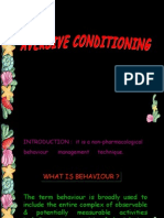 Aversive Conditioning Pedo