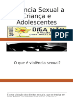 Violência Sexual a Criança e Adolescentes