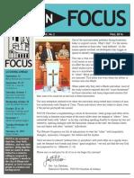 Focus Fall 16 Newsletter
