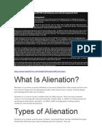About Alienation