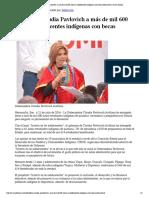 21-07-16 Beneficia Claudia Pavlovich a más de mil 600 niñas y adolescentes indígenas con becas educativas. -Canal Sonora