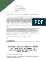 Denuncia de la periodista Marichina García