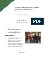 """""""Construcción Colectiva de Estrategias Metodológicas Para El Desarrollo Del Pensamiento Critico"""