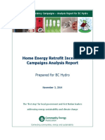 Home Energy Efficiency Retrofit Incentive Campaigns in the Province of BC, Canada - Analysis Report