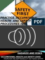 Lesson 9 (Practice OHS Procedures)