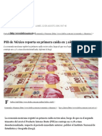 PIB de México Retrocede 0