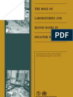 The Role of Laboratories and Blood Banks in Disaster Situations