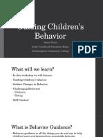 guiding childrens behavior family workshop presentation