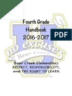 4th grade handbook 16-17