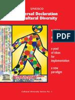 Universal declaration on cultural diversity