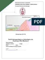 Seccion Hidrogeologica