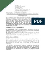 Audiencia de Conciliacion 161-2010