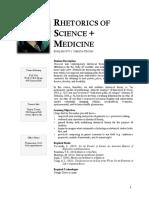 Rhetorics of Science and Medicine