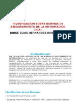 Clases de Normas de Aseguramiento de La Inforrmacion Nia