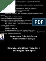 Aula 3_Condições Climáticas, Respostas e Adaptações Fisiológicas