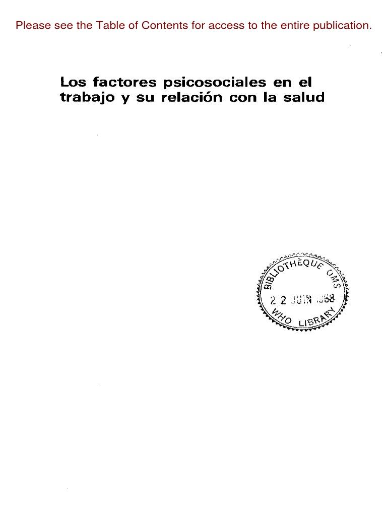 Factores Psicosociales y Relac Con Salud_OMS