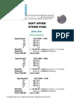 Soft Offer Steam Coal-jun10