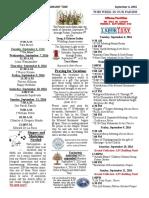 September 4, 2016 Bulletin