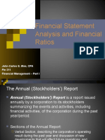 Financial Statement Analysis and Financial Ratios