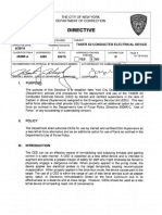 Department of Correction directive on Tasers