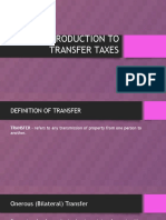 Magis - Introduction to Transfer Taxation