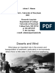 Wind Desert and geomorphic riset