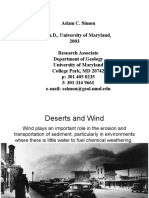 Wind Desert and geomorphic riset